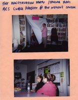 The menstruation party - Spring 2001 - ACS class project at the Women's Center