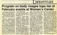 """Program on body images tops list of February events at Women's Center"""