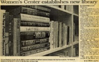"""""""Women's Center establishes new library"""""""