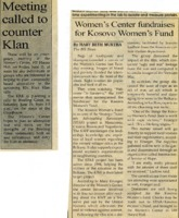 Newspaper article about upcoming events at the Women's Center