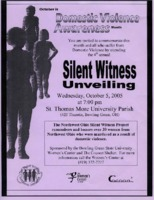 """Flier for """"Silent Witness Unveiling"""""""