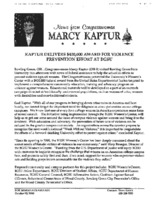 """Kaptur delivers $400,000 award for violence prevention effort at BGSU"""