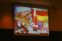 Images from Pola Lopez's keynote presentation at the 16th Latino/a/x Issues Conference.