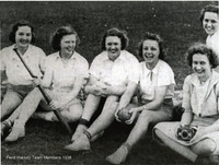 Field hockey team members, 1938