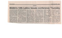 BGSU's 12th Latino Issues conference Thursday