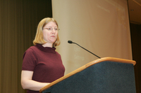 Professor Peg Yacobucci at Latino/a/x Issues Conference