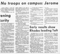 """No troops on campus: Jerome"""