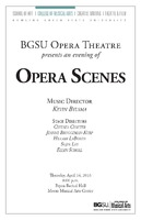 BGSU Opera Theatre: Opera Scenes