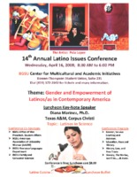 14th Annual Latino Issues Conference Flyer