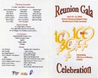 Program for Reunion Gala celebrating 100 years of women at BGSU