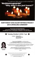 Poster for Northwest Ohio Silent Witness Project 2016 Unveiling Ceremony
