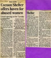 """""""Cocoon Shelter offers haven for abused women - Grand opening set for Tuesday"""""""