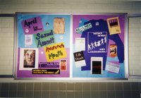 Bulletin board for Sexual Assault Awareness Month/Take Back the Night