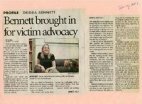 """Bennett brought in for victim advocacy"""