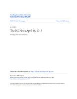 BG News Article, April 15, 2013