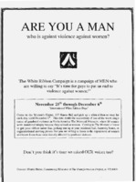 Are you a man who is against violence against women?