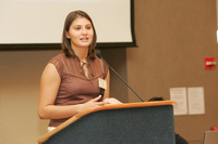 Juliana Vukonic, Organizing Committee Member, at 2007 13th Latino Issues Conference.