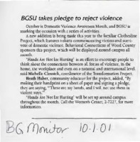 """BGSU takes pledge to reject violence"""