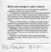 """BGSU takes pledge to reject violence"""