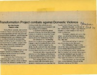 """Transformation Project combats against domestic violence"""