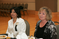 Yolanda Flores and unidentified audience member at 2006 Latino Issues Conference