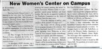 """New Women's Center on Campus"""