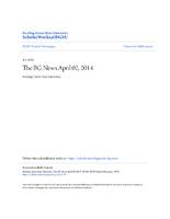 BG News Article, April 2, 2014