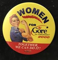 Women For Al Gore 2000 button