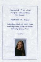 Program for ceremony honoring Michelle M. Rizzi