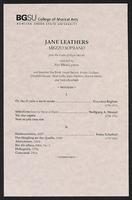 Jane Leathers, mezzo soprano