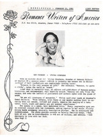 Vivian Stephens in Romance Writers of America Newsletter