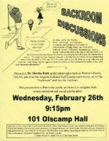 Flier for Backroom Discussions