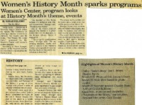 """Women's History Month sparks programs"""