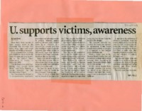 """U. supports victims, awareness"""
