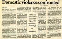 """Domestic violence confronted"""