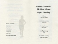 Program for remembrance ceremony for 2007 Slient Victim Project Unveiling