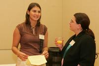 Juliana Vukonic and Prof. Susana Peña at the 2007 Latino Issues Conference