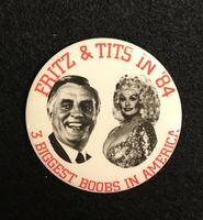 Fritz and Tits in '84 button