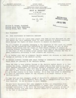 Letter from Guy A. Smart to BGSU President William T. Jerome