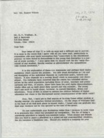 Letter from BGSU President William T. Jerome to E.P. Wolfram, Jr.