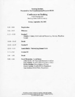 Agenda for conference on stalking