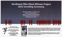 Poster for Northwest Ohio Silent Witness Project 2014 Unveiling Ceremony