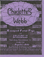 Charlotte's Webb, Escaped Fetal Pigs, Armadillo at Angelo's Attic - University of Toledo Student Union  11/12/91