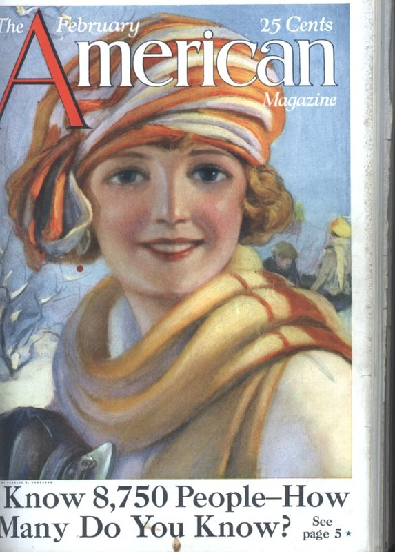 <strong>The <em>American Magazine</em>&nbsp;cover, February 1923.&nbsp;</strong>