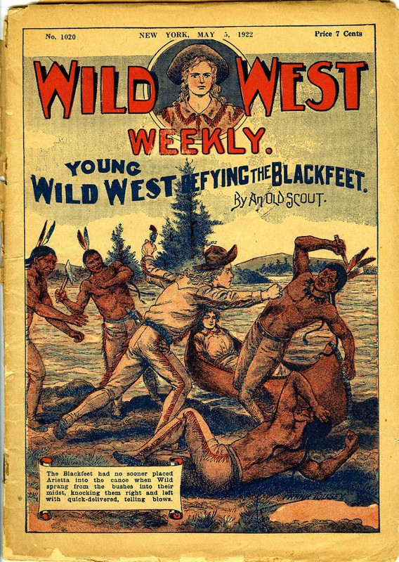 Young Wild West Defying the Blackfeet