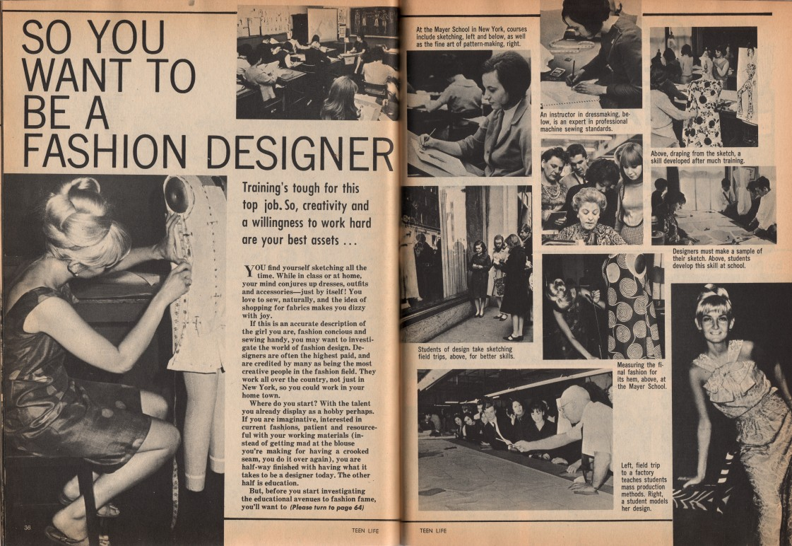 So You Want To Be A Fashion Designer Teen Life December 1967 P 36 37 64 Student Digital Gallery Bgsu Libraries
