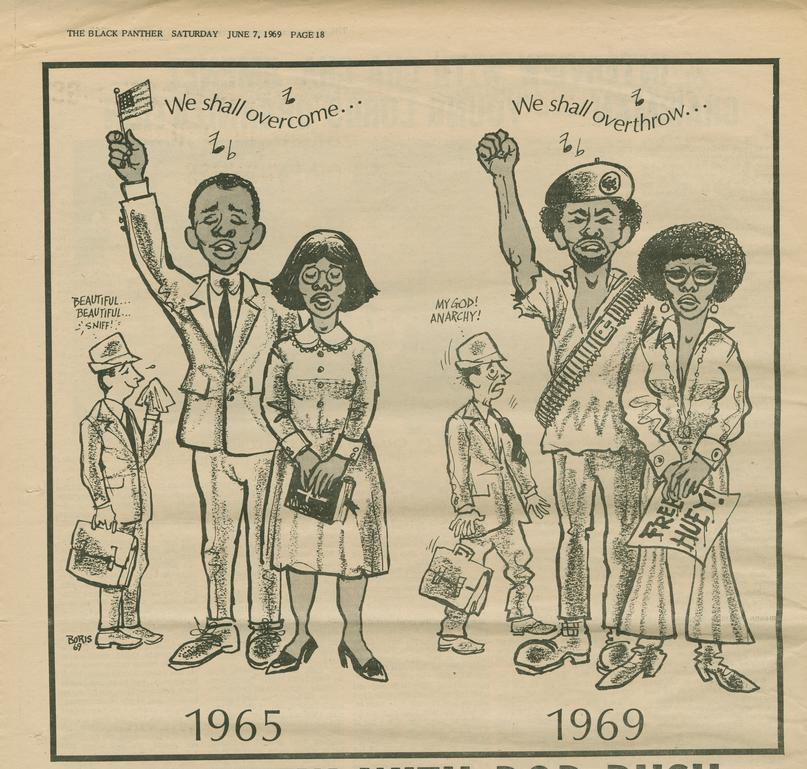 Cartoon From Black Panther Newspaper 1969 · Student