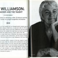 Cris Williamson: The Teacher and the Taught
