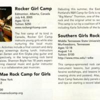 Rocker Girl Camp