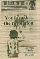 """""""Youth Makes the Revolution"""" Cover Black Panther Newspaper 1969"""